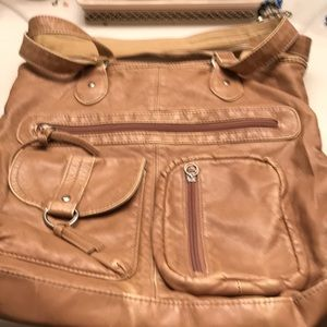 Joe Boxer Tan Multi Compartments Bag